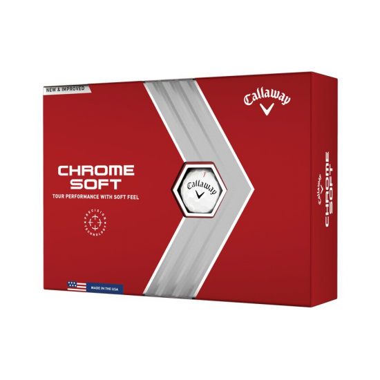 Callaway Chrome Soft Hvit - 12 Golfballer