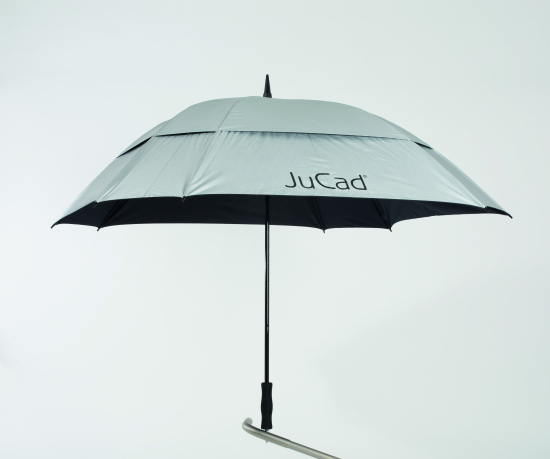 JuCad Windproof Golf Paraply - Sølv i gruppen Golfhandelen / Tilbehør  / Paraply hos Golfhandelen Ltd (JS2WP-SI.48)
